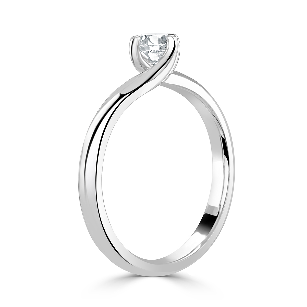 Round Brilliant Cut Platinum Diamond