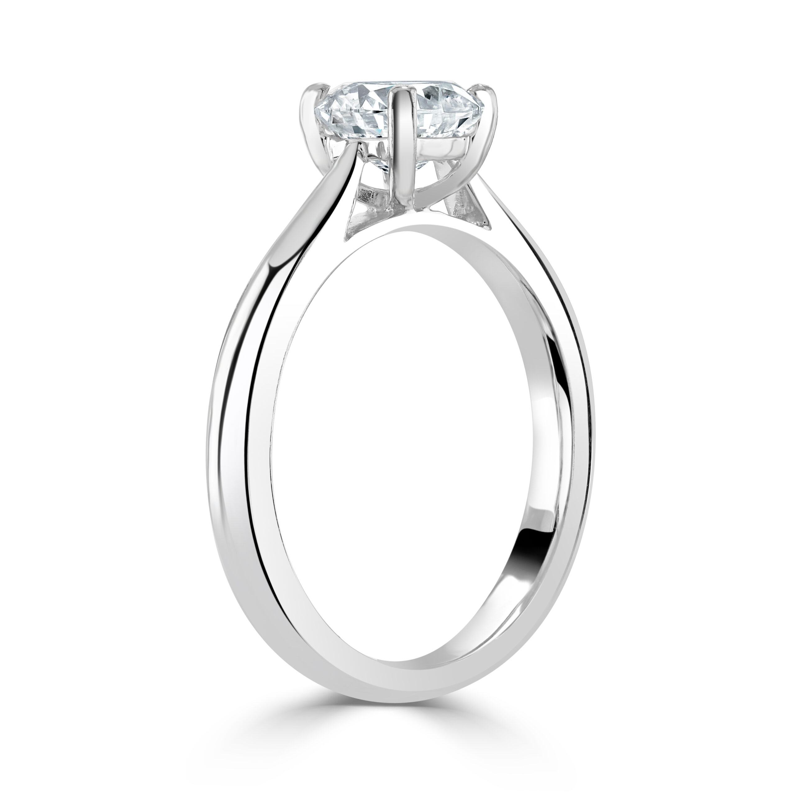 Round Brilliant Cut Platinum Diamond Ring