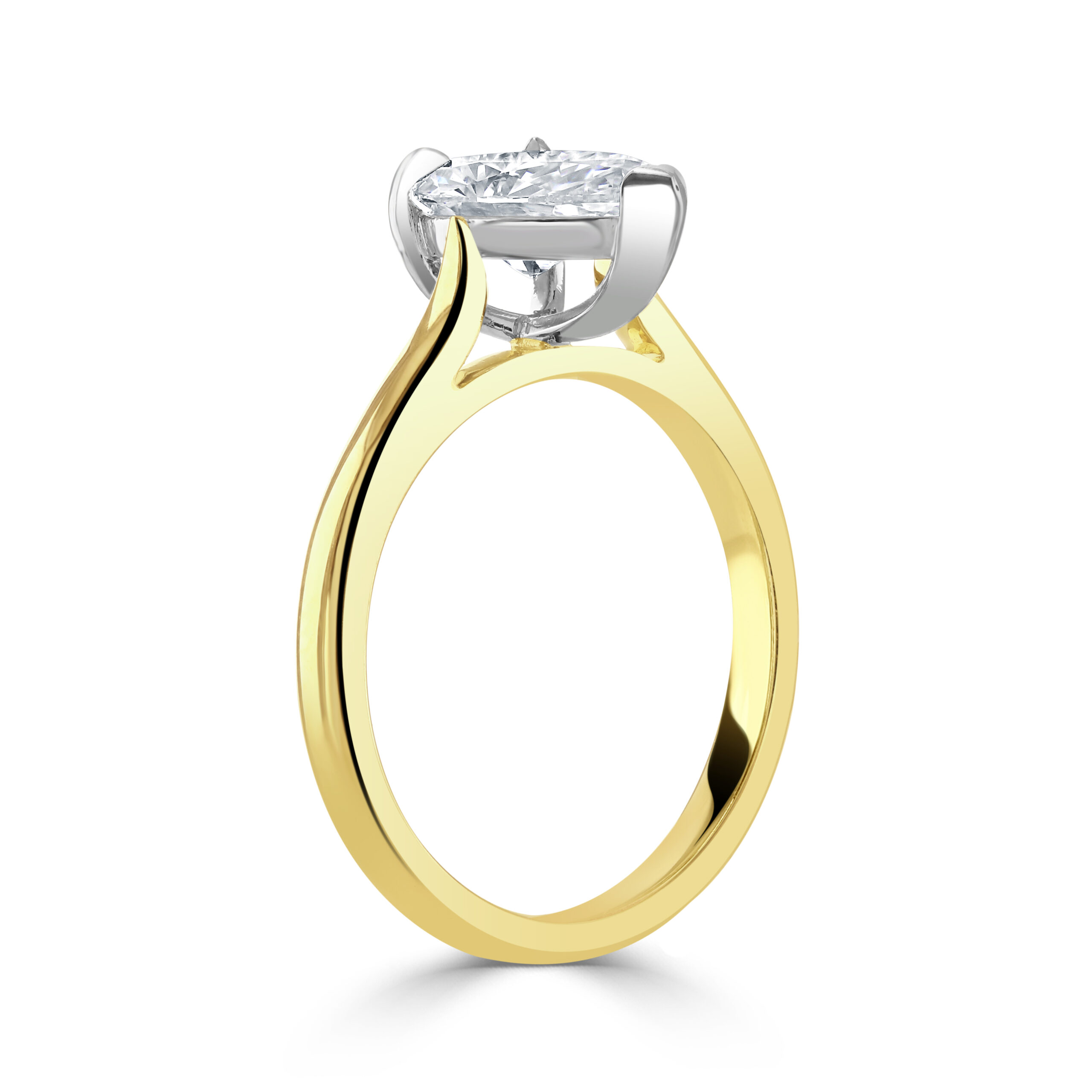 Pear Shaped Yellow Gold Diamond Ring