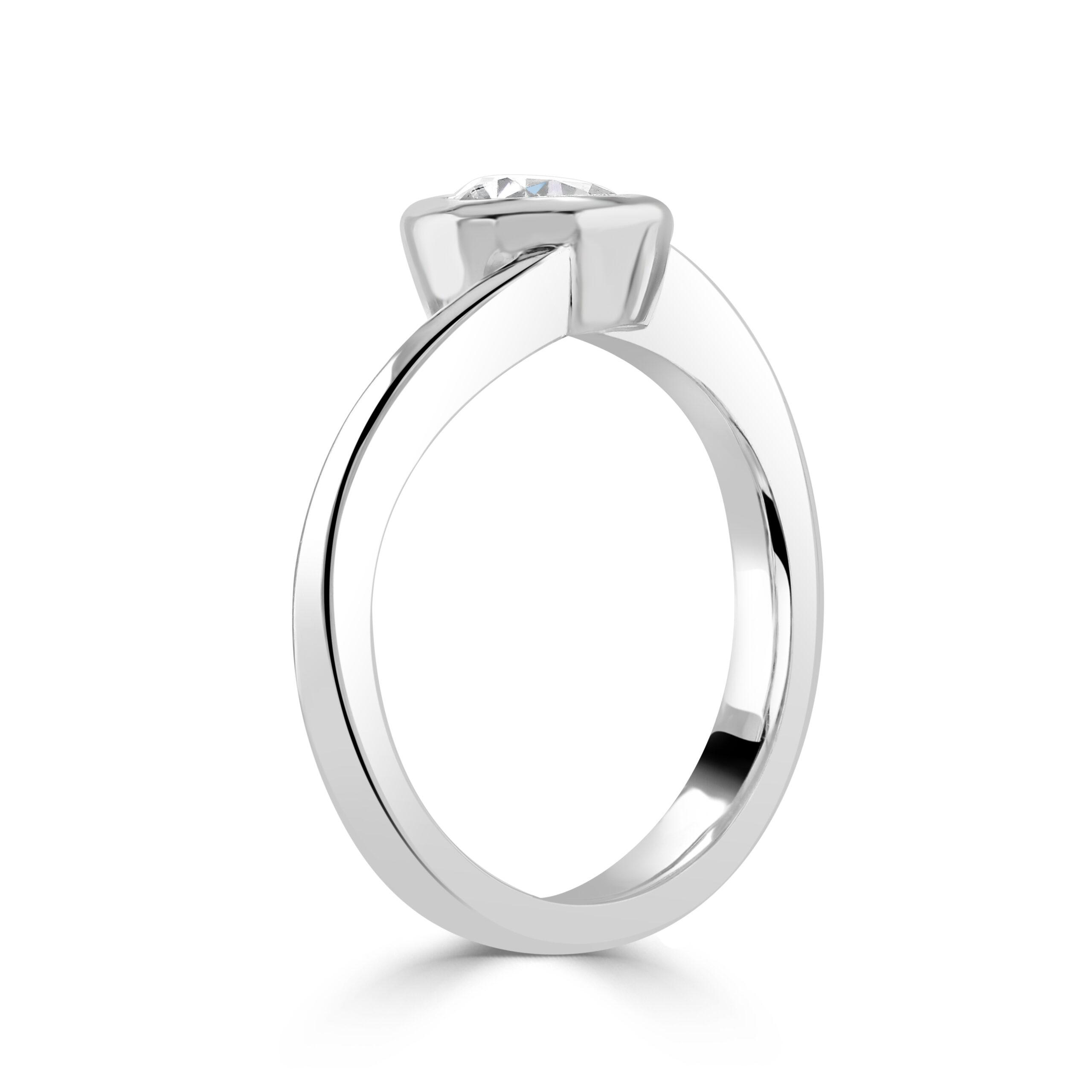 Pear Cut Platinum Diamond