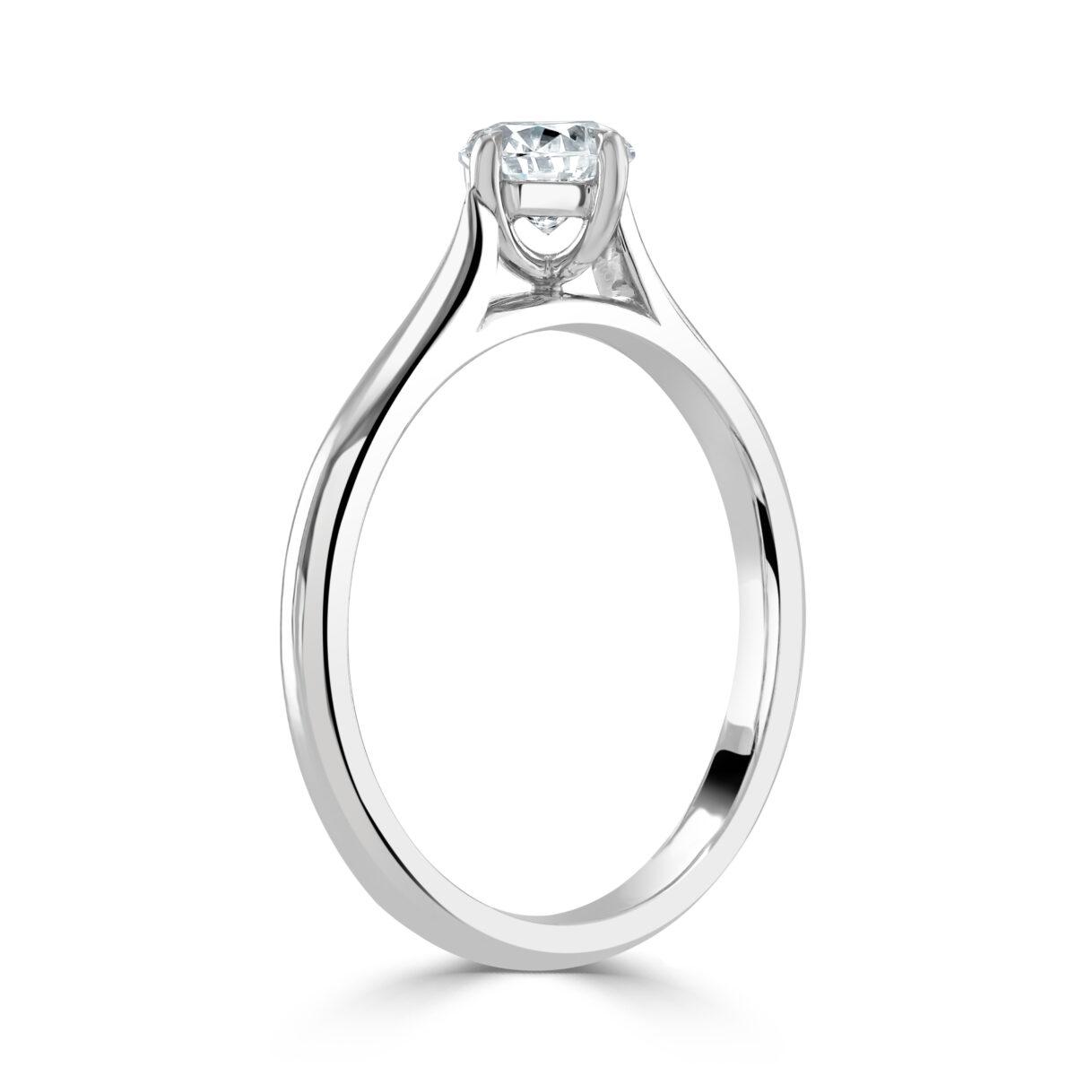 Round Brilliant Cut Diamond Platinum Ring