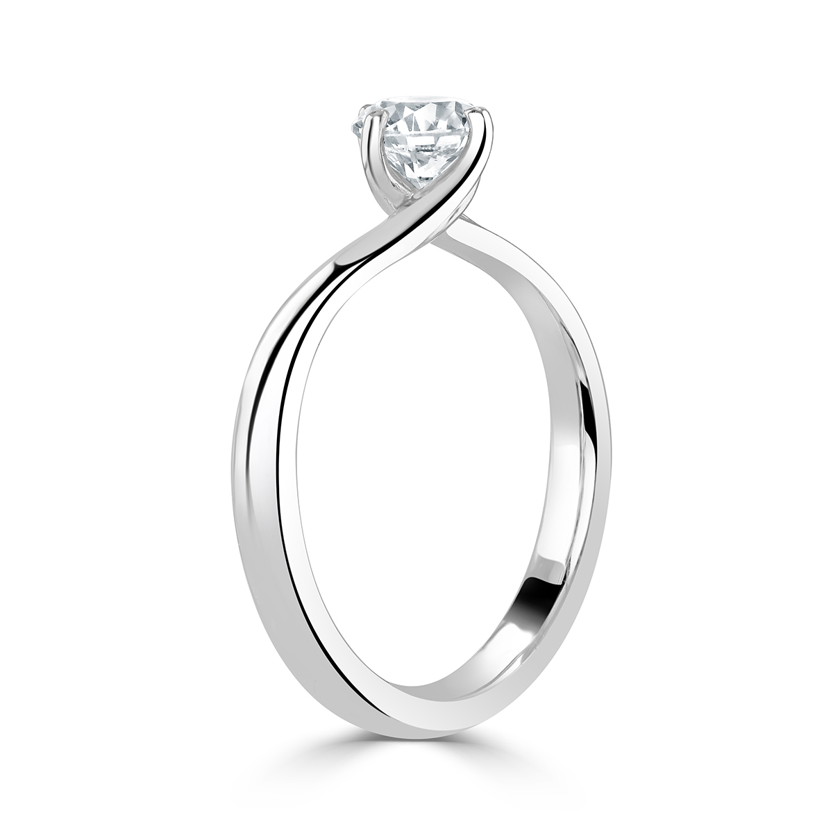 Round Brilliant Cut Platinum Diamond
