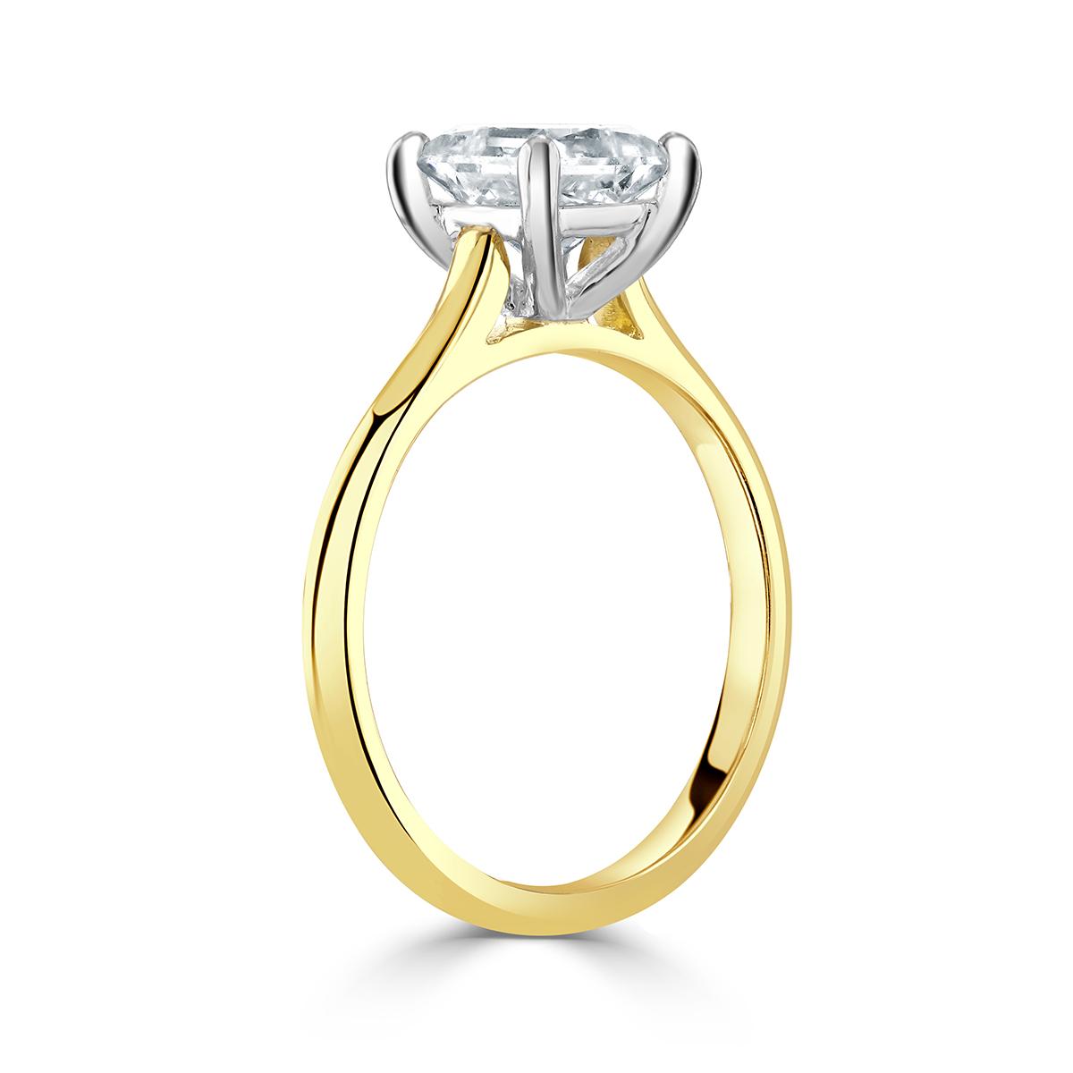 Princess Cut Yellow Gold Diamond Ring