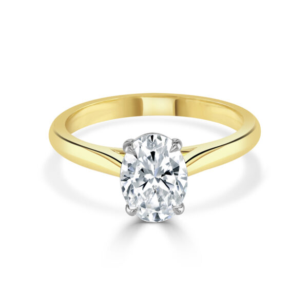 Oval Cut Yellow Gold Diamond Ring