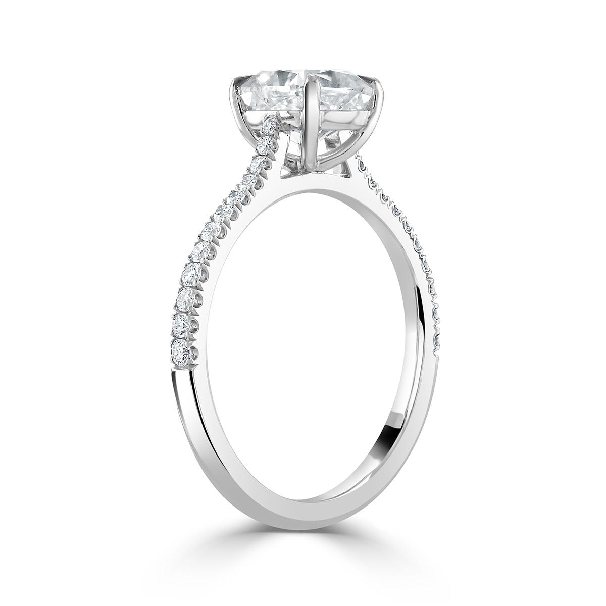 Cushion Cut Platinum Diamond Ring