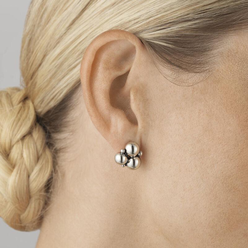 Moonlight Grapes Sterling Silver Earrings