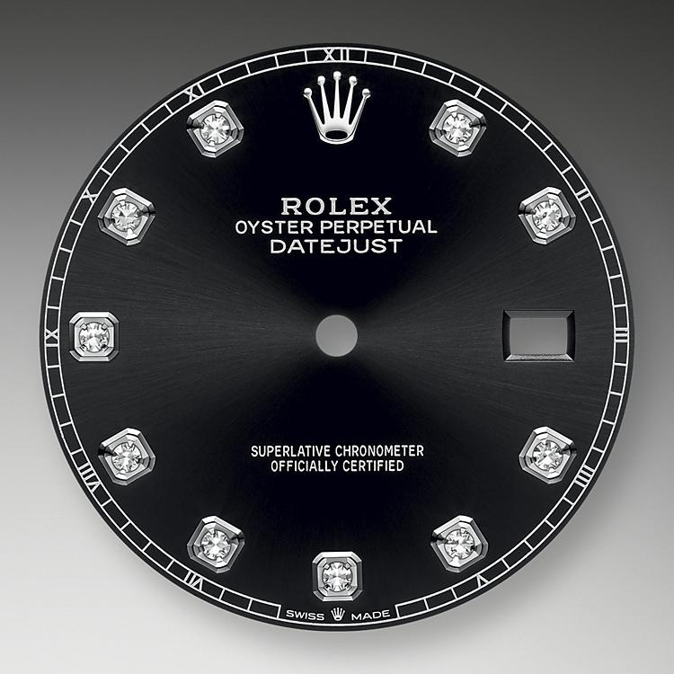 Bright black dial