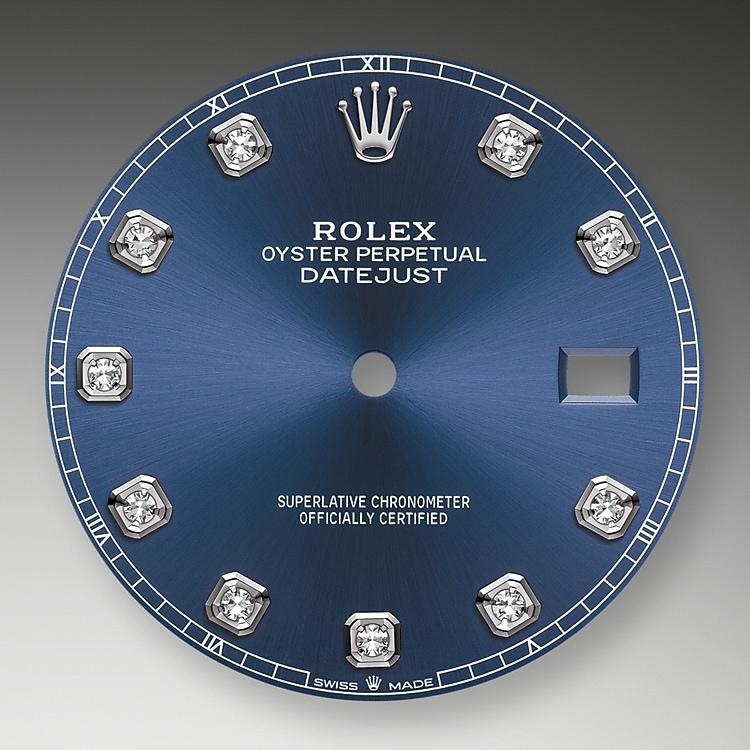 Bright blue dial