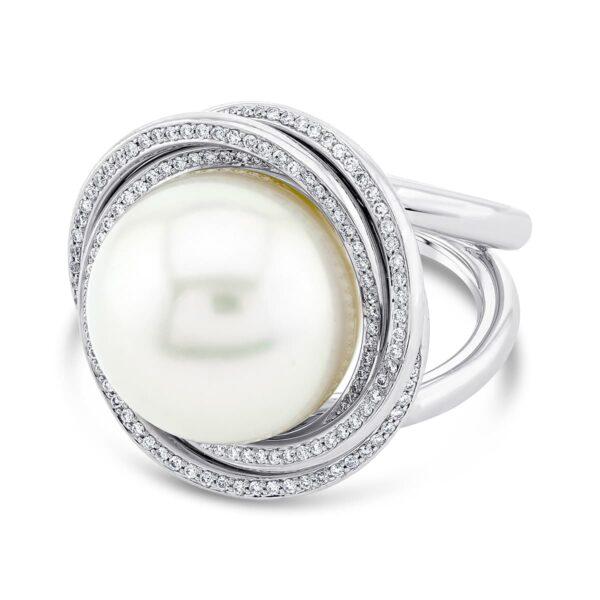 South Sea Pearl and Diamond Dress Ring