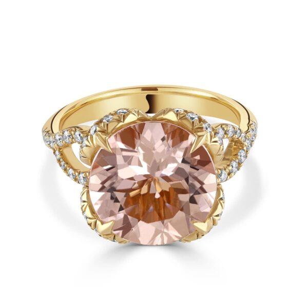 Rose Gold Morganite and Diamond Dress Ring