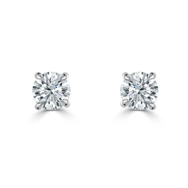 Diamond Classics White Gold Diamond Stud Earrings