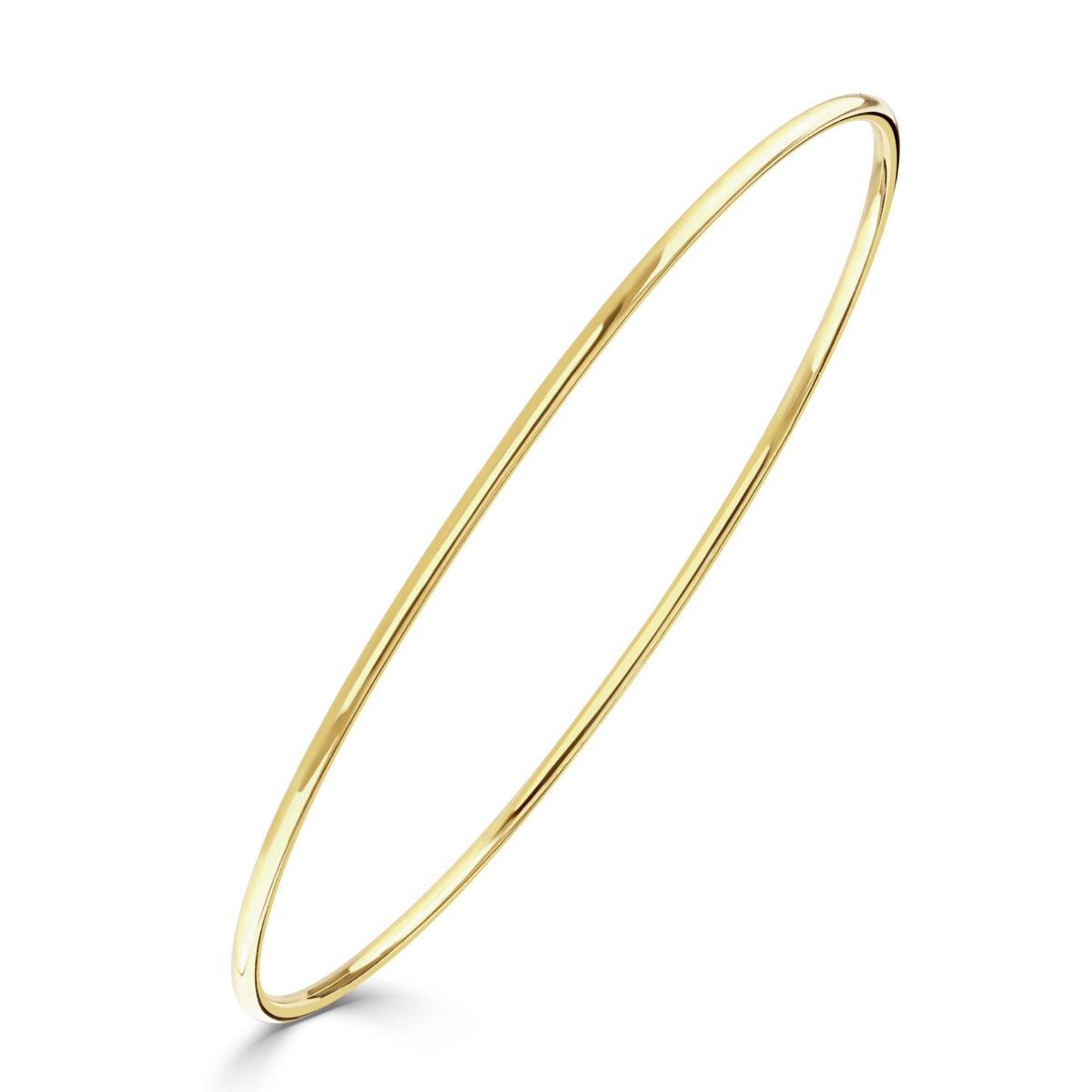 Diamond Classics Yellow Gold Polished Bangle