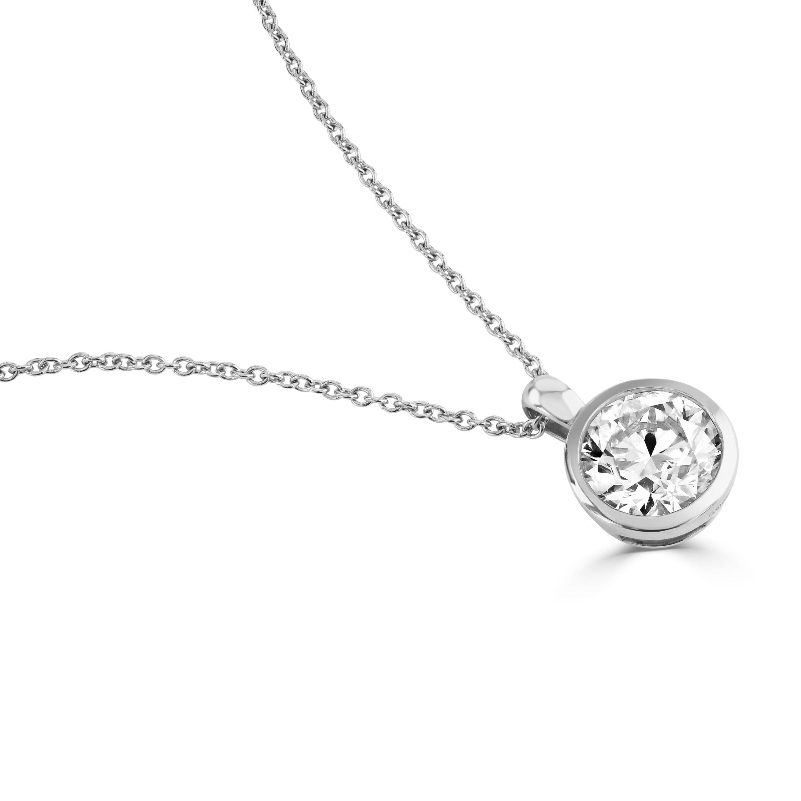 Diamond Classics White Gold Bezel Set Diamond Pendant