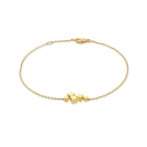Hopscotch Polished Yellow Gold Bracelet