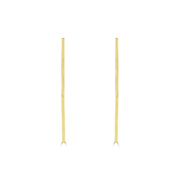 Honeycomb Yellow Gold Hoop Earrings